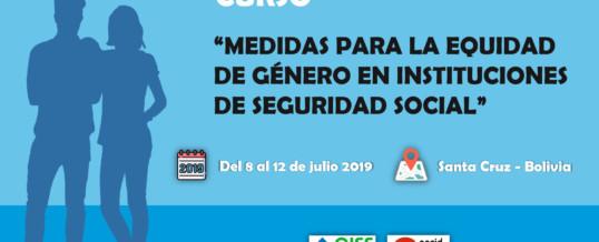 """Curso """"Medidas para la equidad de género en instituciones de seguridad social"""""""